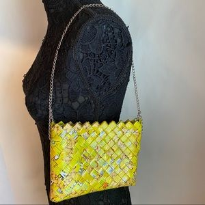 Candy Chip Wrapper Yellow Small square chain bag